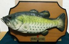"""VINTAGE SINGING WALL DECOR BIG MOUTH BILLY BASS """" Don't Worry Be Happy """""""