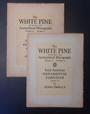 White Pine Monographs 1924 Vol X No 2&3 Early American Ornamental Cornices 1 & 2