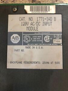 Allen-Bradley input module 1771-IAD B