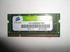 Corsair VS1GSDS667D2  Memoria Ram 1 GB, DDR2, PC667, CL5, SODIMM - x Notebook
