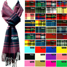 Mens Womens Wool Check Scarf Scotland Made Warm Plaid Wool 100% CASHMERE Scarves