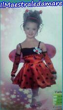 Vestito Coccinella Bambina Costume Carnevale Cosplay Travestirsi Ladybug Bimba