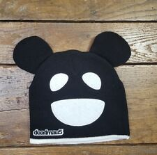 Deadmau5 Ski Cap Beanie Hat Knit Mouse Ears Black and White NICE! (P1)