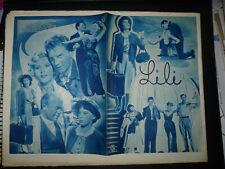 LILI, Austrian Film program [Leslie Caron, Jose Ferrer, Zsa Zsa Gabor]