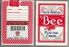 1 DECK Bee Wynn Casino Red vintage Ohio-made playing cards FREE USA SHIPPING!