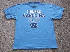 """University of North Carolina """"I Bleed Carolina Blue"""" T Shirt, Size Large"""
