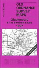OLD ORDNANCE SURVEY MAP GLASTONBURY & THE SOMERSET LEVELS 1897