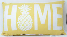 Pineapple Home Oblong Throw Pillow in Yellow