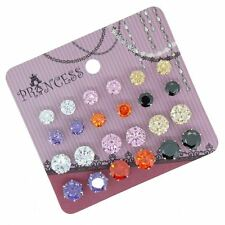 Wholesale Lot of 6mm 8mm Cubic Zirconia Crystal Magnetic Stud Earrings Mix Color