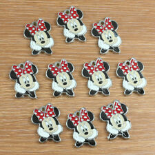 Lot 10pcs Cute Minnie Mouse Metal Charm Pendants Girls Jewerly Making Crafts DIY