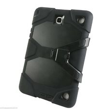 "MILITARY GRADE HEAVY DUTY DUST SHOCK PROOF CASE Samsung TAB A 8"" T350 T355 BLACK"