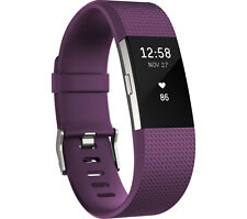 FITBIT Charge 2 Tracks steps distance calories heart rate Splashproof Plum Small