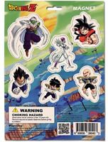 Dragon Ball DBZ Magnet Set Goku Vegeta DragonBall Authentic Licensed Rare Ur New