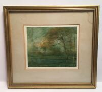 Vernon Godsill Signed 1981 Bushy Park Watercolour ? Print ?