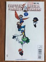 CAPTAIN AMERICA AND THE MIGHTY AVENGERS #1, SKOTTIE YOUNG VARIANT, Blue Marvel!