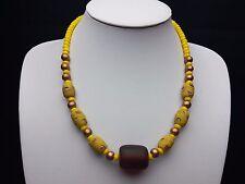 Afrika Halskette mit alten venezianischen Handelsperlen und großer african Amber