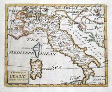 ITALY, John Senex original antique hand coloured map 1741