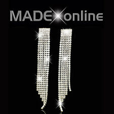 Long Dangle Drop Earrings Diamante Diamonte Sparkle Bling