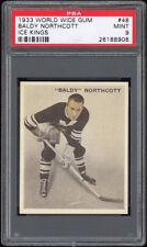 1933-34 V357 World Wide Ice Kings #48 Baldy Northcott PSA 9 Pop 1 (Bilingual)