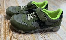 Saucony Baby Jazz Lite Toddler Boys Size 10.5M Camouflage Army Green Sneakers