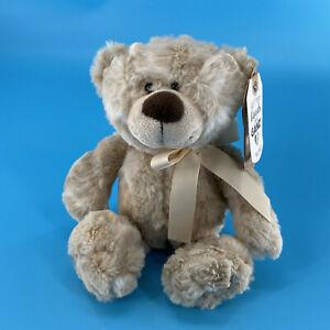 Ganz Bolton Hug Me Teddy Bear Tan 10'' Plush Stuffed Animal Soft Toy Gift (New)