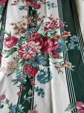 New listing Victorian Style Cabbage Roses Croscill Granada Vintage Curtain Panels Drapes