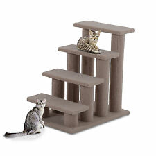 PawHut 4-Step Indoor Wooden Portable Pet Stairs