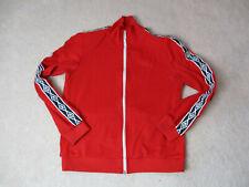 VINTAGE Umbro Track Jacket Adult Large Black Red Full Zip Soccer Futbol Coat *