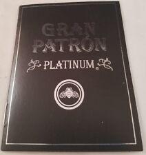 GRAN PATRON PLATINUM MINI INFORMATION BOOKLET COLLECTIBLE