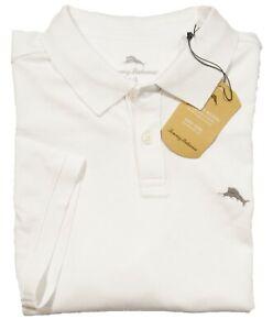 Tommy Bahama Men's White Short Sleeve Polo Shirt