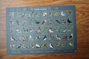 Denmark 1965 Christmas Seal mint sheet of 50 stamps MNH