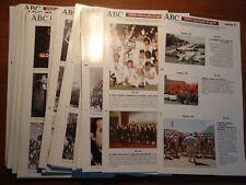 Lote de 77 laminas auto adhesivas de Europa col. de ABC entre el nº2 y la nº81