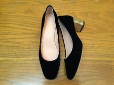 KATE SPADE NEW YORK SERENE BLACK STAR VELVET GOLD GLITTER HEEL SHOES NEW SIZE 8