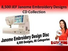 8,500 JEF Janome Embroidery Designs CD Collection