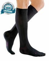 mediven for Men Classic 20-30 mmHg Calf High Compression Socks Closed Toe Black