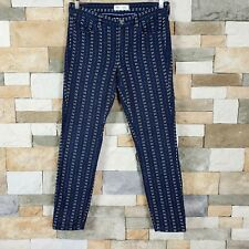 3b152671d7ec Madewell Womens Sz 4 Skinny Skinny Pants In Stitchdot Navy White Ankle Fit