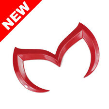 For MAZDA3 / MAZDASPEED3 EVIL 'M' REAR TRUNK EMBLEM BADGE INSIGNAL - GLOSS RED