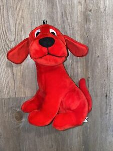 """Vintage Scholastic CLIFFORD THE BIG RED DOG 11"""" tall Plush Stuffed Animal Toy"""
