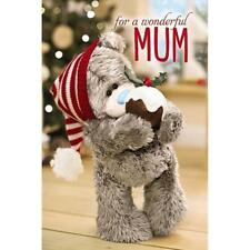 Mum - Me to You 3d Holographic Adorable Pudding Christmas Greeting Card