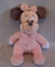 """Disney Minnie Mouse Plush Pink & Gray Rattle Bean Bag Toy  12"""" Soft & Clean"""