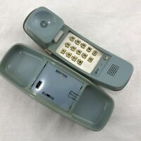 Vintage AT&T 210 Trimline Blue Touch Tone Push Button Desk Wall Phone Pulse