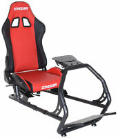 Conquer Racing Simulator Cockpit Driving Seat with Gear Shifter Mount