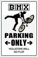 """*Aluminum* Bmx Parking Only 8""""x12"""" Metal Novelty Sign  NS 300"""