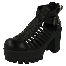 Spot On Ladies Chunky Heel Shoes