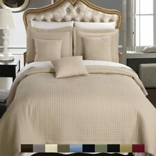 Sophisticated Checkered Quilted Coverlet Set-Wrinkle Free