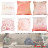 Rose Gold Pink Cushion Cover Cushion Cover Bed Sofa Home Decor Regular 18 inch