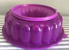 Tupperware Jel-A-Ring Jello Gelatin Dessert Mold 6 Cups Purple New