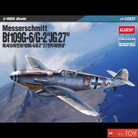 Academy 1/48 Messerschmitt Bf109 G-6/ G-2 JG27 Aircraft Plastic model kit #12321