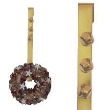 Premier 38cm Guirnalda de navidad puerta Colgador con 3 CASCABELES - Dorado