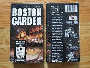 History of the BOSTON GARDEN VHS Tape 1928-95 BANNER YEARS Bobby Orr Larry Bird